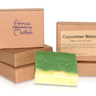 Arrow Mattick cucumber melon handmade soap