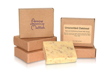 Arrow Mattick Unscented Oatmeal Goats Milk Soap