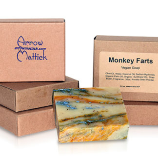 Arrow Mattick monkey farts handmade soap