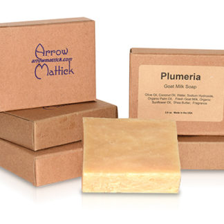 Arrow Mattick Plumeria Goats Milk Soap