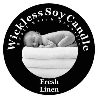 Fresh Linen Wickless Candle